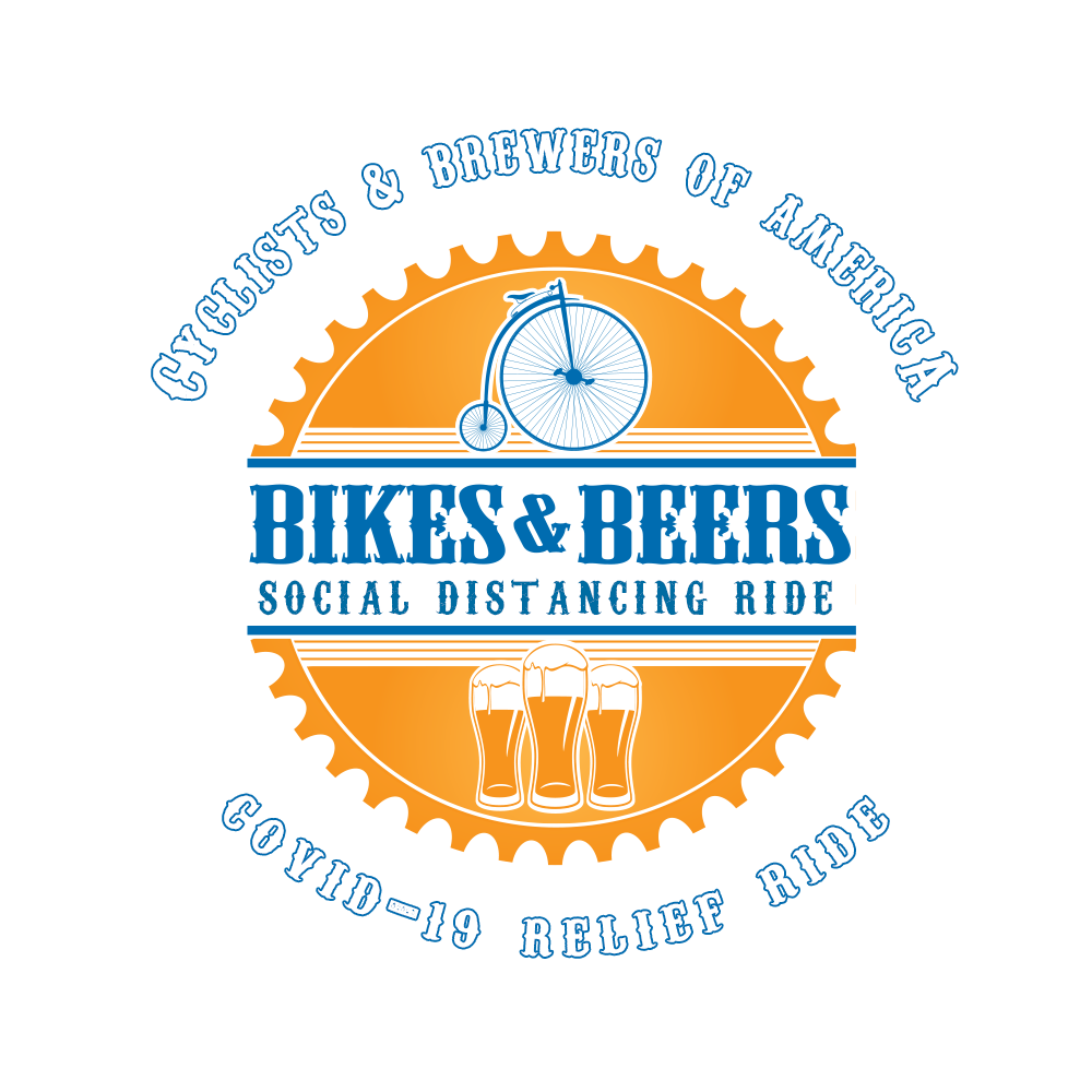 Cyclists and brewers of America bikes and beers social distancing ride Covid-19 relief ride